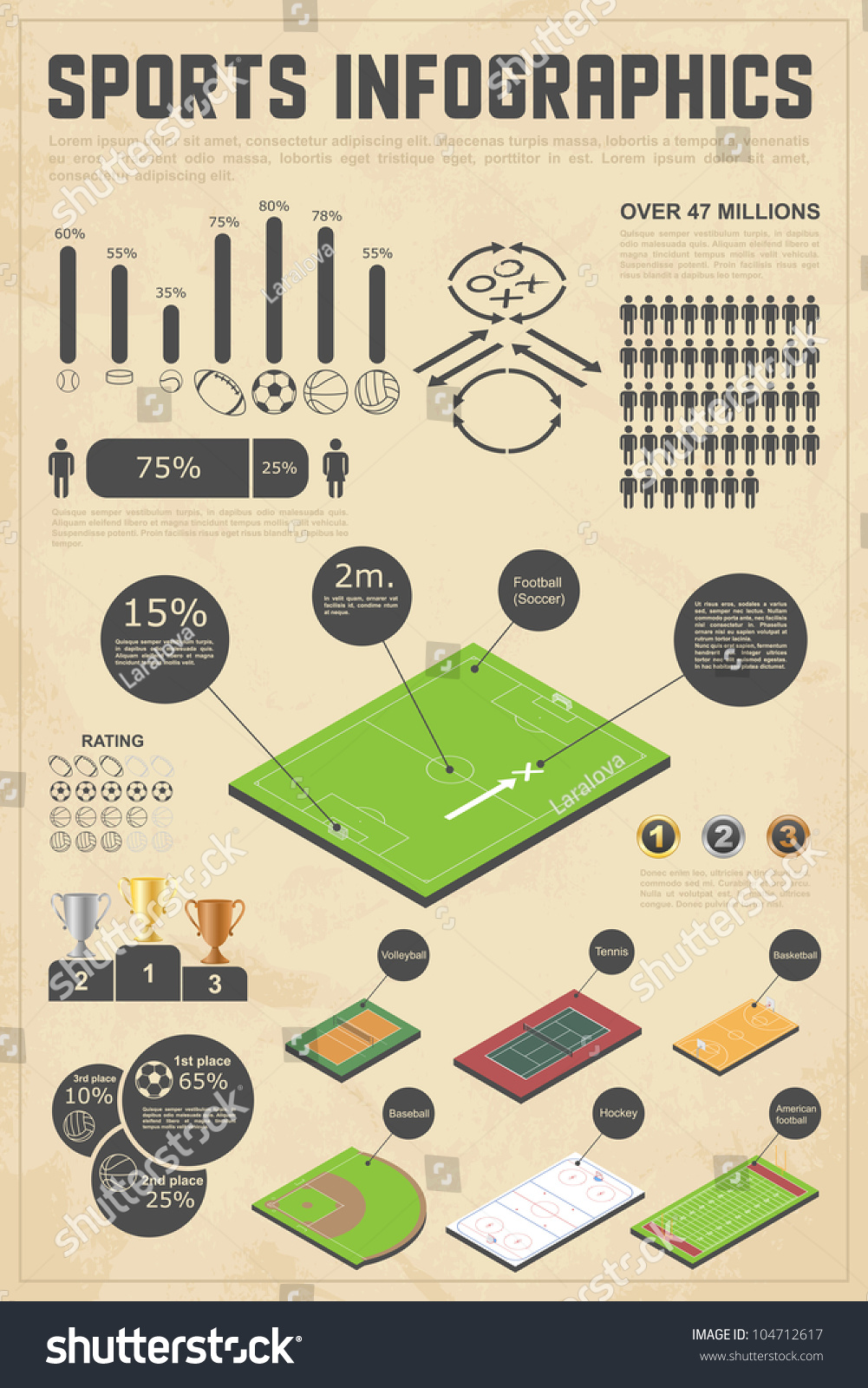 Design elements sports infographics vector illustration for Sports infographics templates