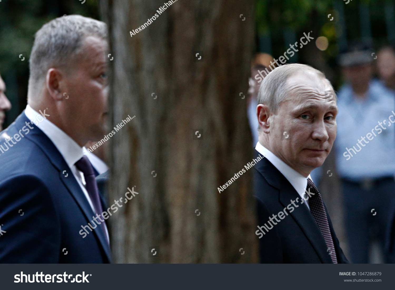 Russian President Vladimir Putin Walks Presidential Stock Photo Edit Now 1047286879