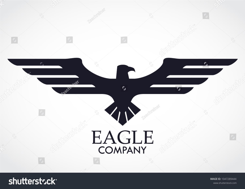 Elegant Eagle Symbol Logo Stock Vector Royalty Free 1047289444