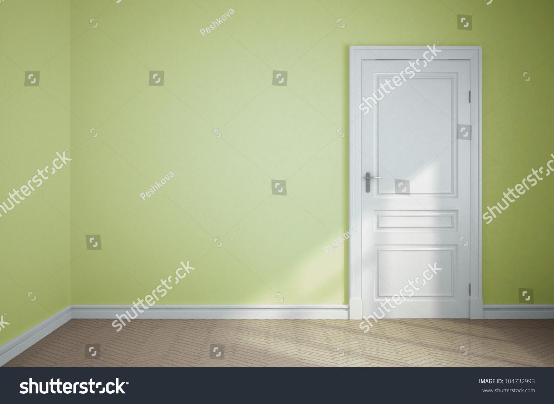 empty light green room white door stock foto 104732993 - shutterstock