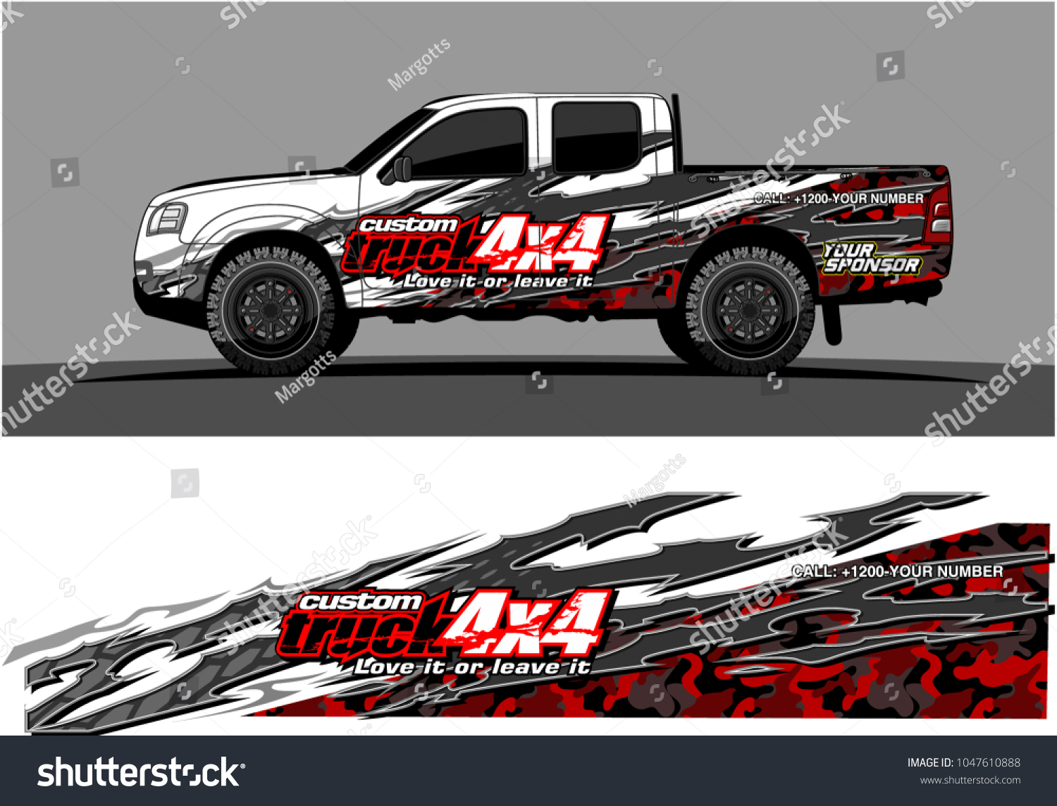 Truck graphic vector kit racing background for cars vehicle and truck vinyl sticker wrap