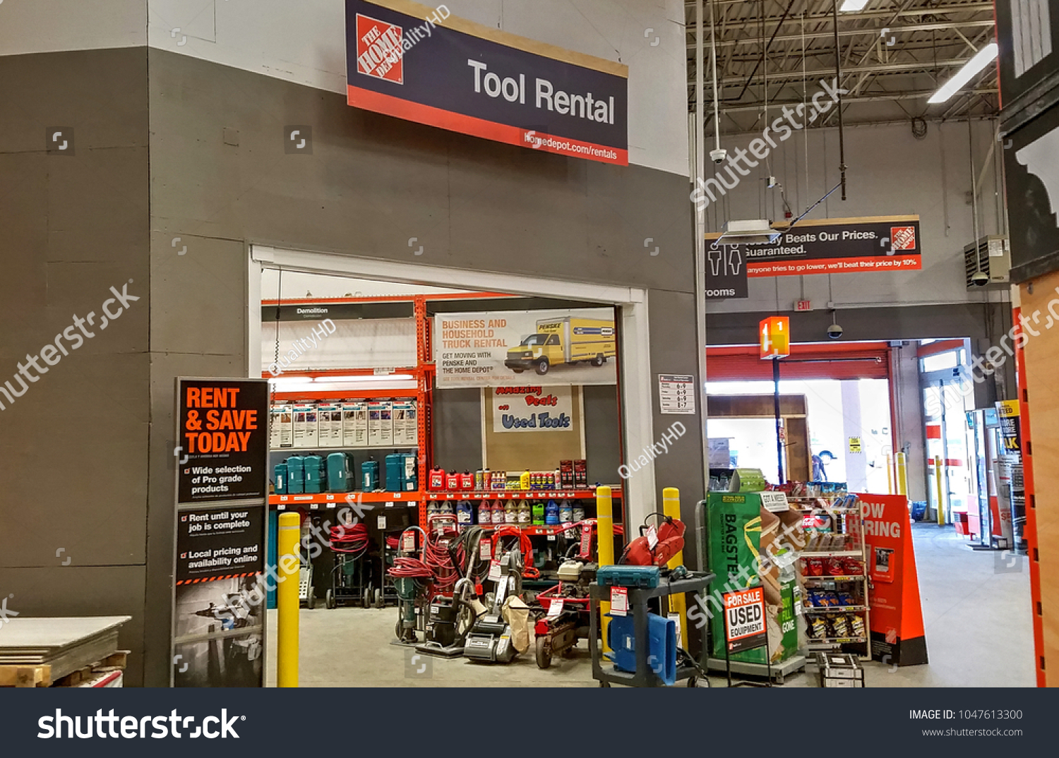HDR Image, Home Depot Store, Tool Rental Department   Saugus, Massachusetts  USA