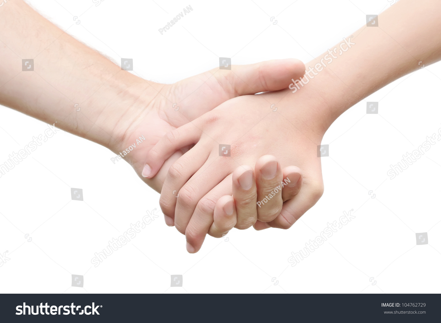 Cute Little Girl And Boy Holding Hands Stock Photo - Image