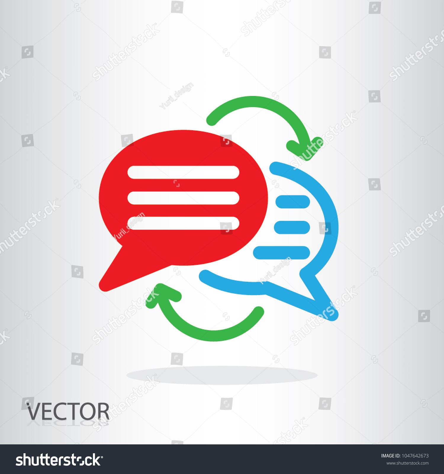 Writing Text Translation Icon Language Translation Stock Vector