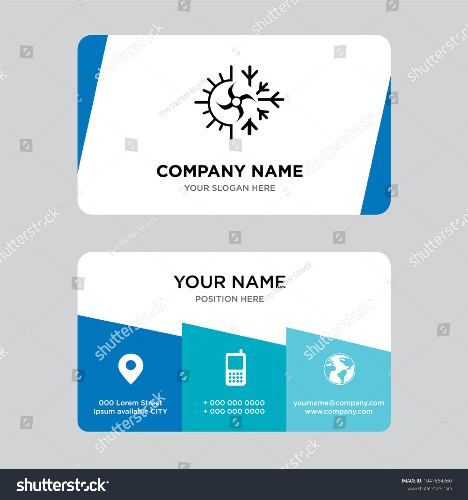 Hvac business card design template visiting stock vector royalty hvac business card design template visiting for your company modern creative and clean identity fbccfo Choice Image