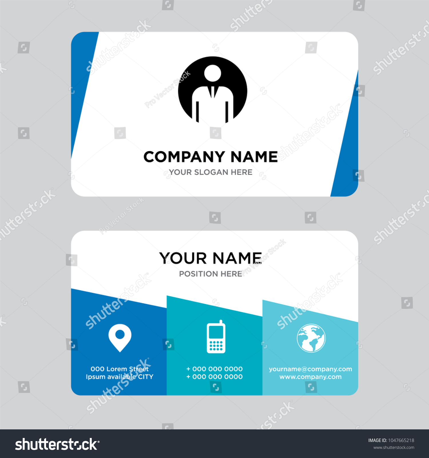 Generic Person Business Card Design Template Stock Vector 1047665218 ...
