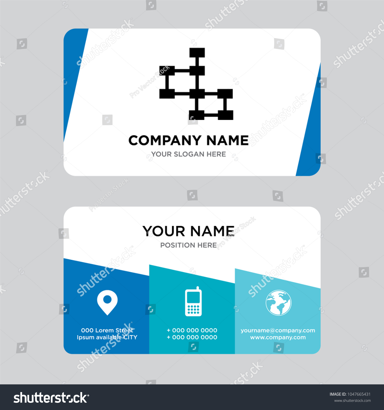 Database Schema Business Card Design Template Stock Vector (2018 ...