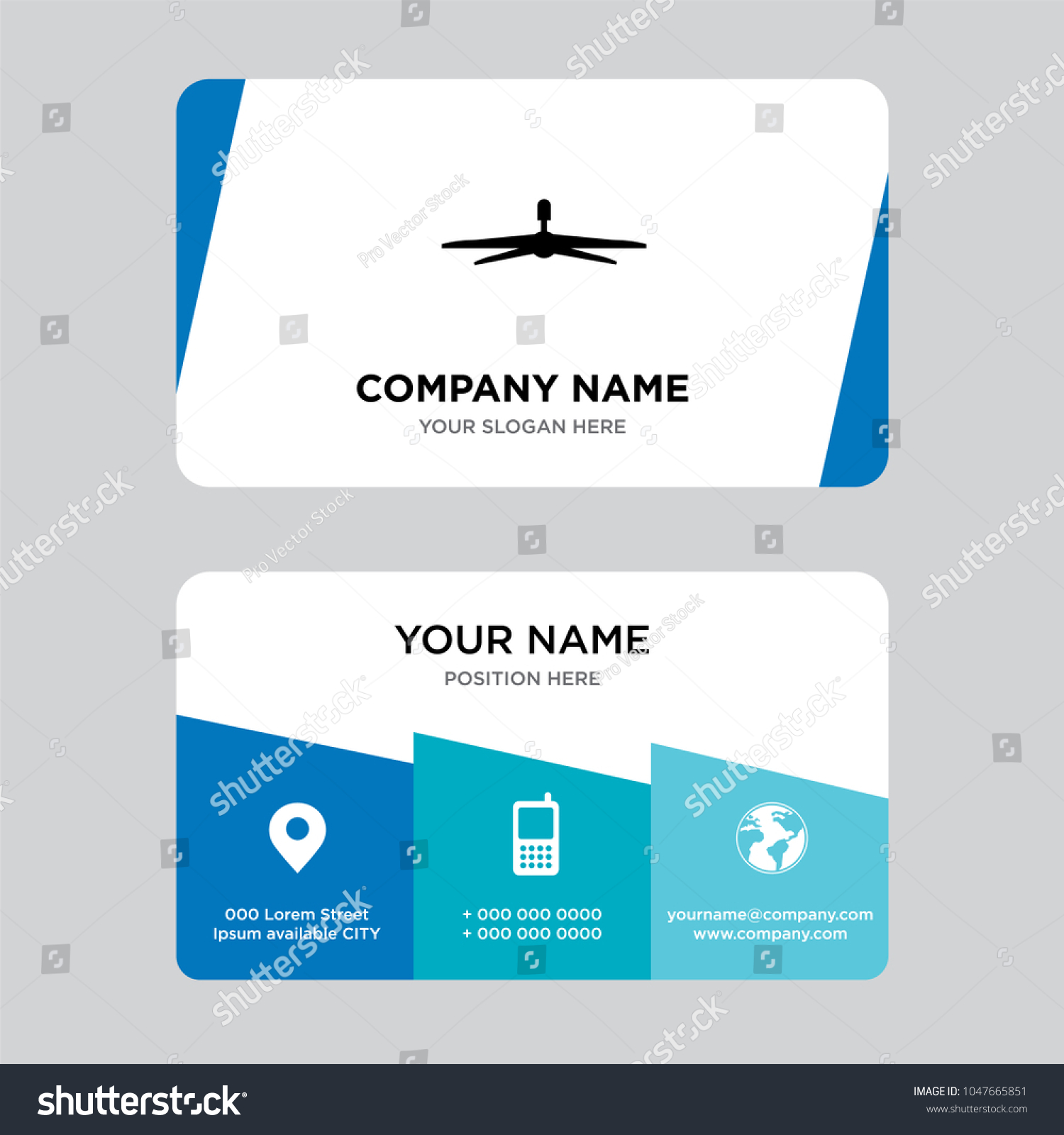 Ceiling Fan Business Card Design Template Stock Photo (Photo, Vector ...