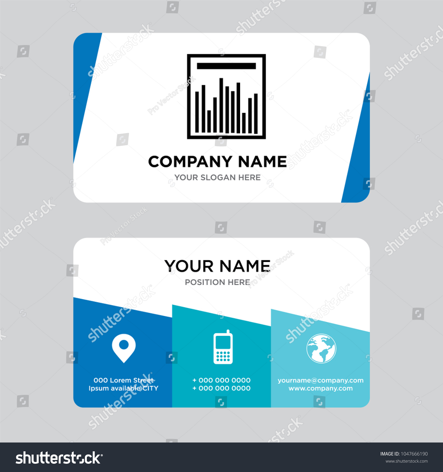 Statistics graph business card design template stock vector statistics graph business card design template visiting for your company modern creative and clean colourmoves