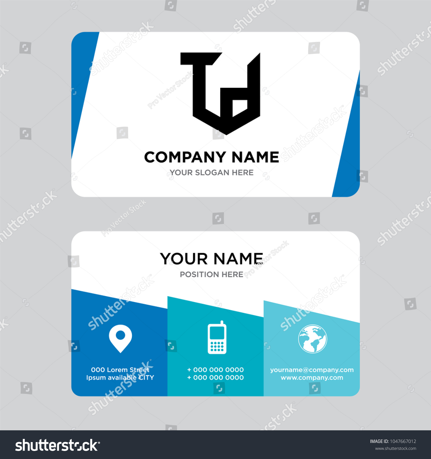 Td Business Card Design Template Visiting Stock Vector HD (Royalty ...