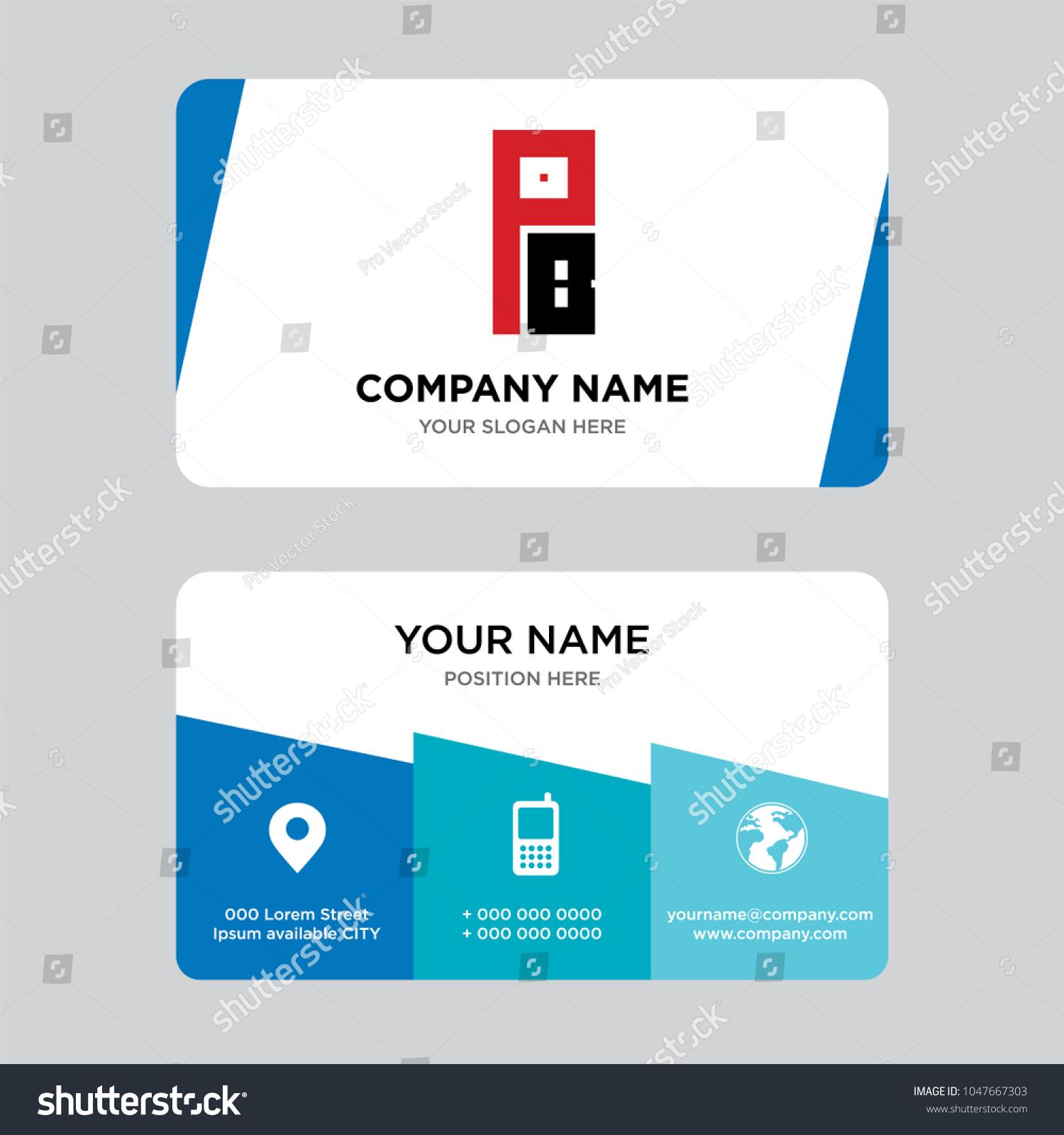 PB BP Business Card Design Template Stock Vector HD (Royalty Free ...