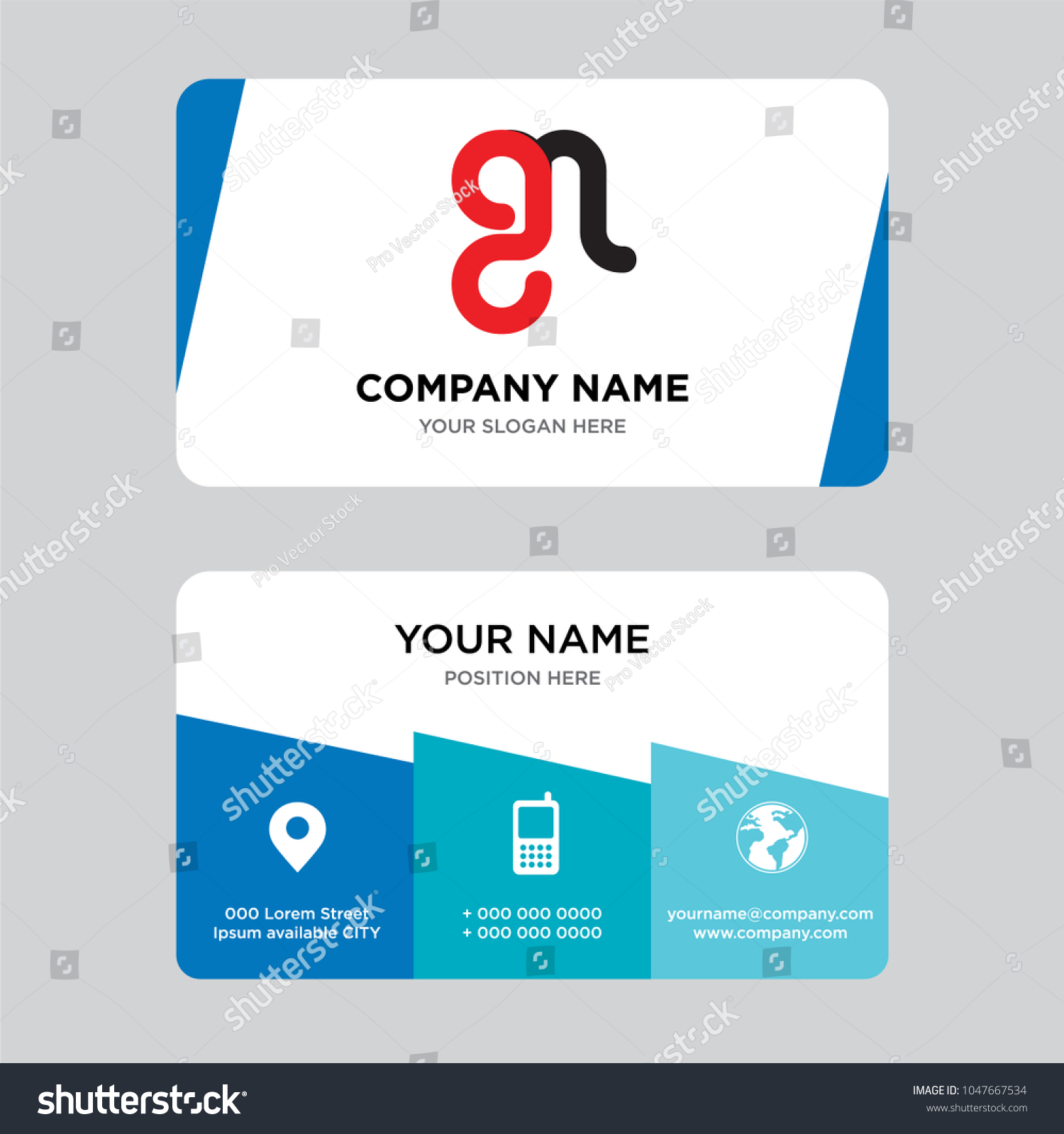 Mg Gm Business Card Design Template Stock Vector (2018) 1047667534 ...