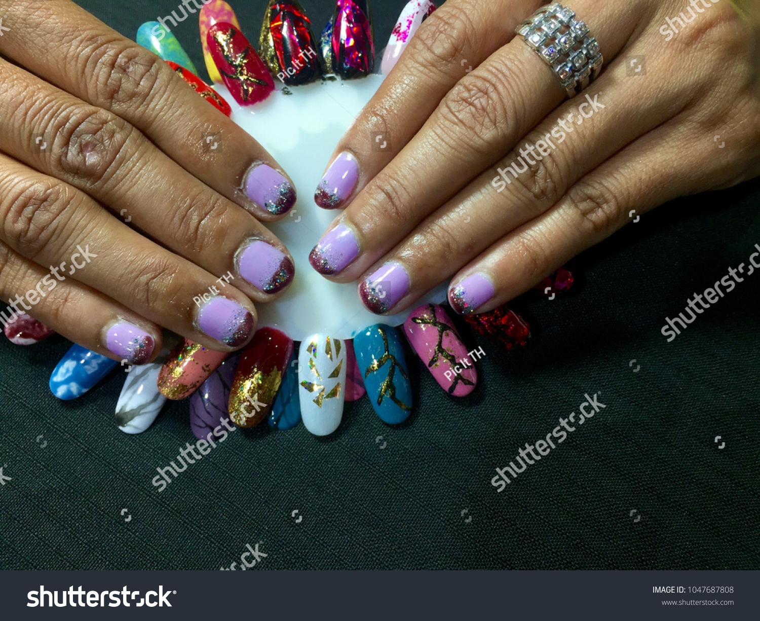 Nails Art Summer Manicure Nail Color Stock Photo (Edit Now ...