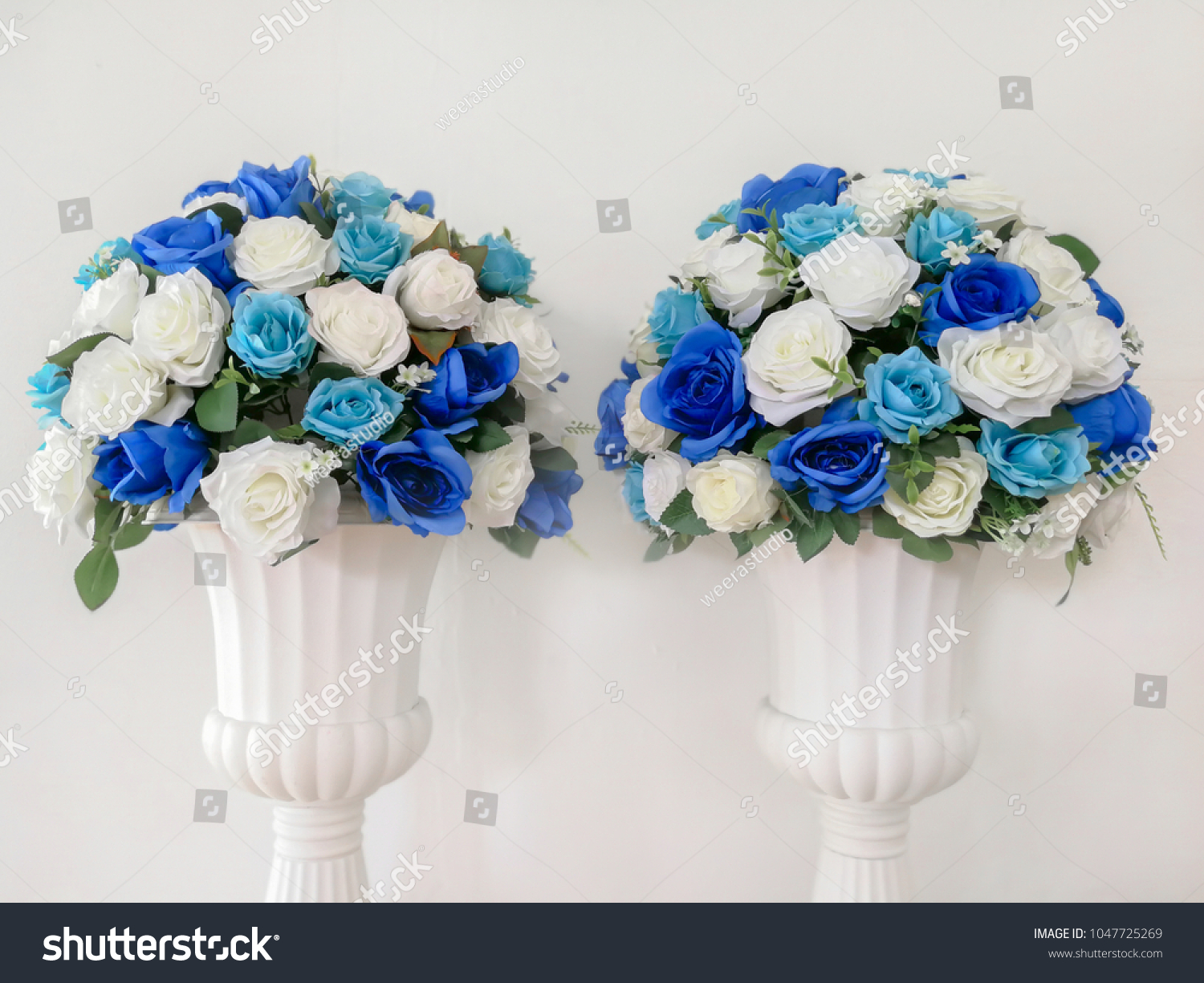 Artificial Flowers Roses Foam Pink Blue Stock Photo Edit Now 1047725269