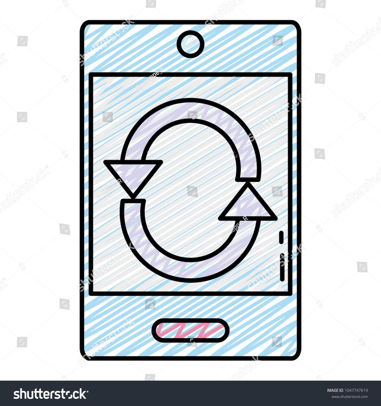 Doodle smartphone technology electronic loading symbol stock doodle smartphone technology with electronic loading symbol biocorpaavc Image collections