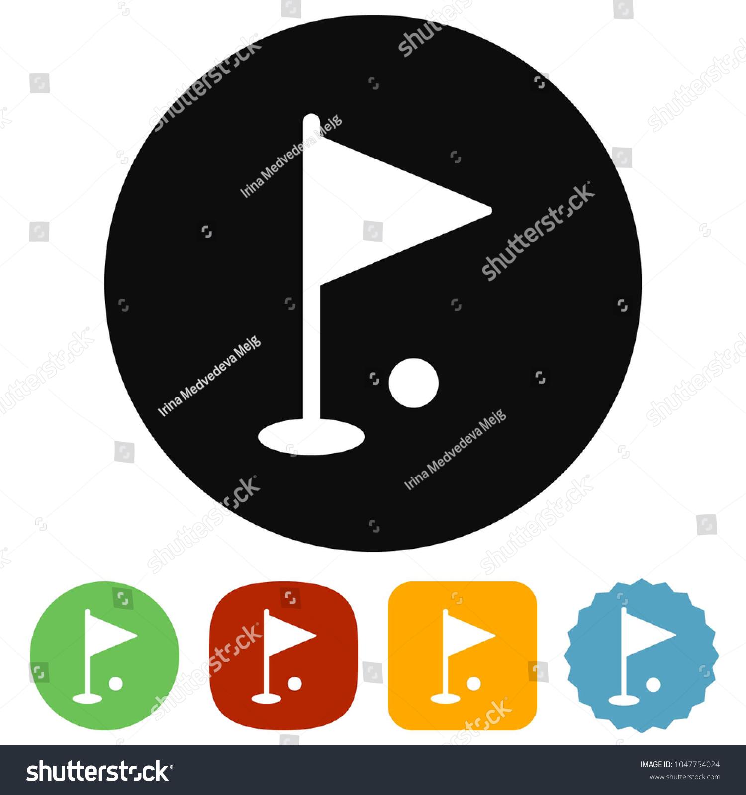 Golf Hole Vector Icon Stock Royalty Free 1047754024 Diagram
