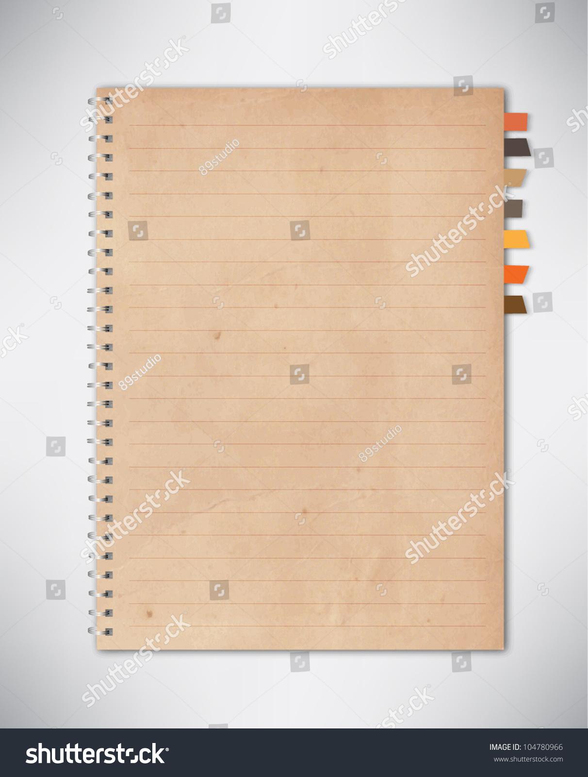 Old Notebook Paper Vector Vector 104780966 Shutterstock – Notebook Paper