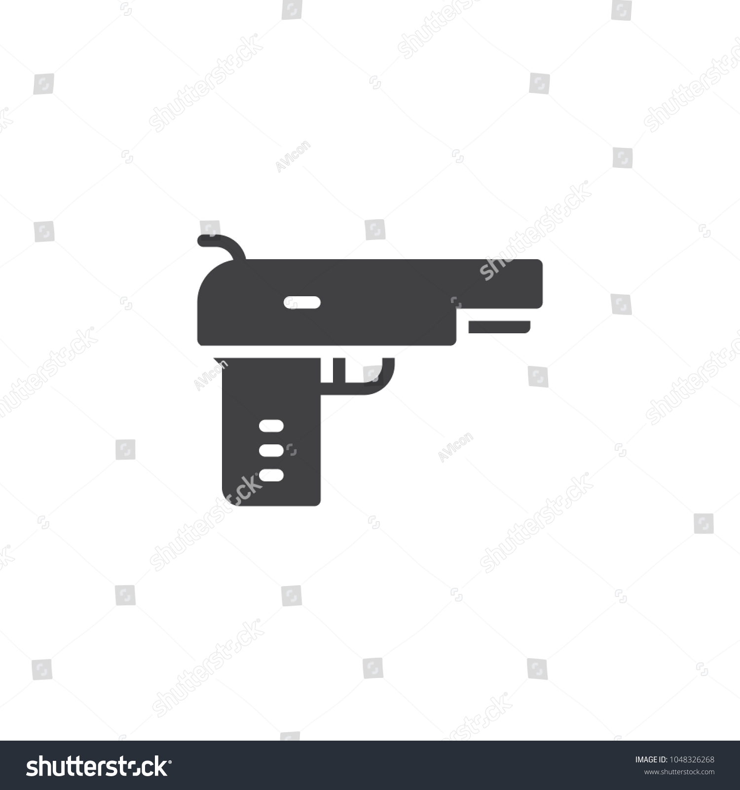 Pistol gun vector icon filled flat stock vector 1048326268 pistol gun vector icon filled flat sign for mobile concept and web design handgun biocorpaavc Images