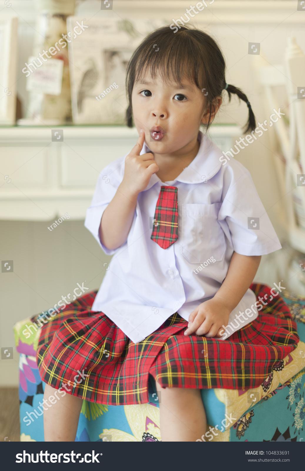 Little Asian Schoolgirl Stock Photo 104833691 - Shutterstock-4647