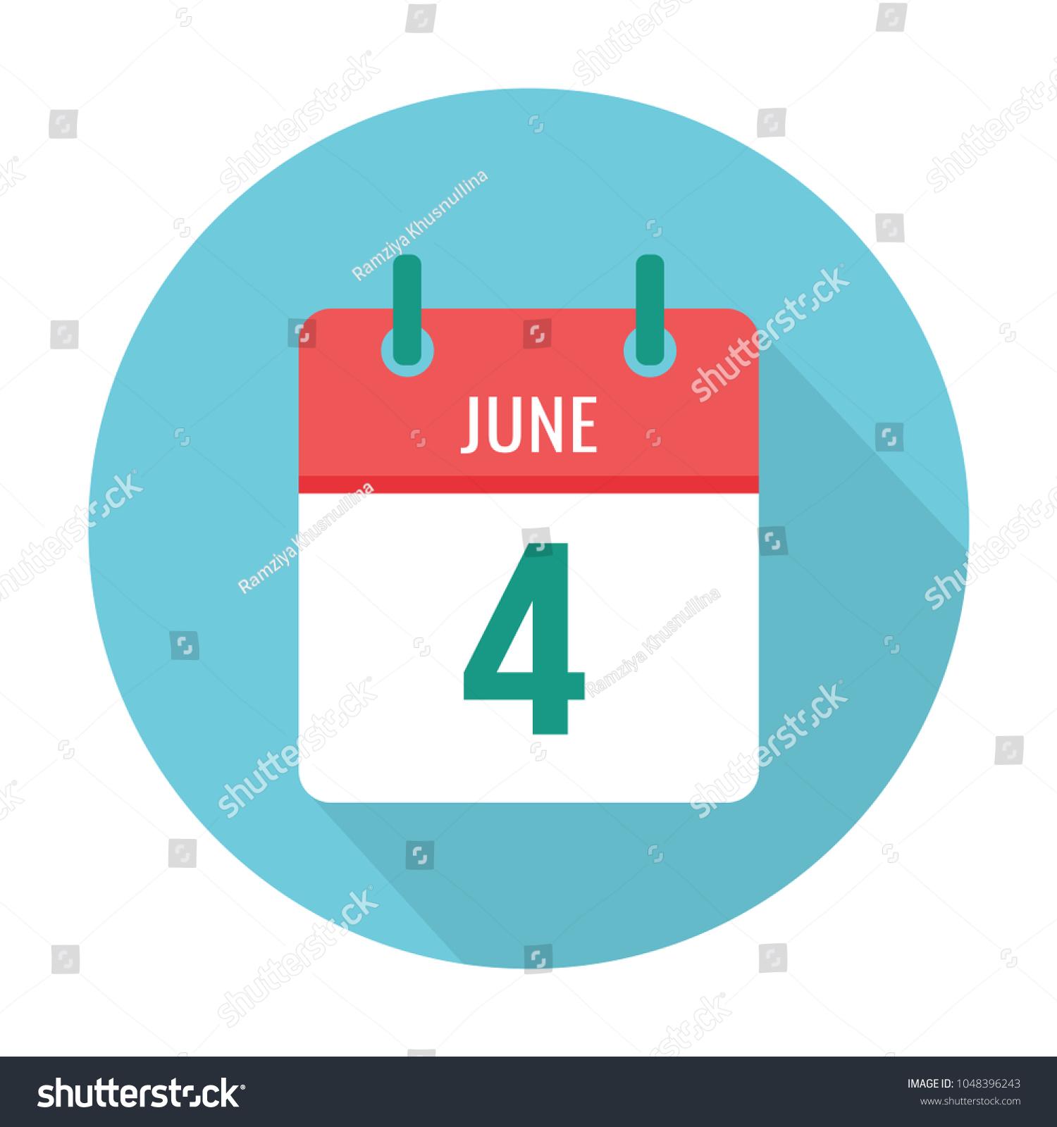 June 4 calendar icon flat international stock vector 1048396243 june 4 calendar icon flat international day of innocent children crane operator foundation biocorpaavc Choice Image