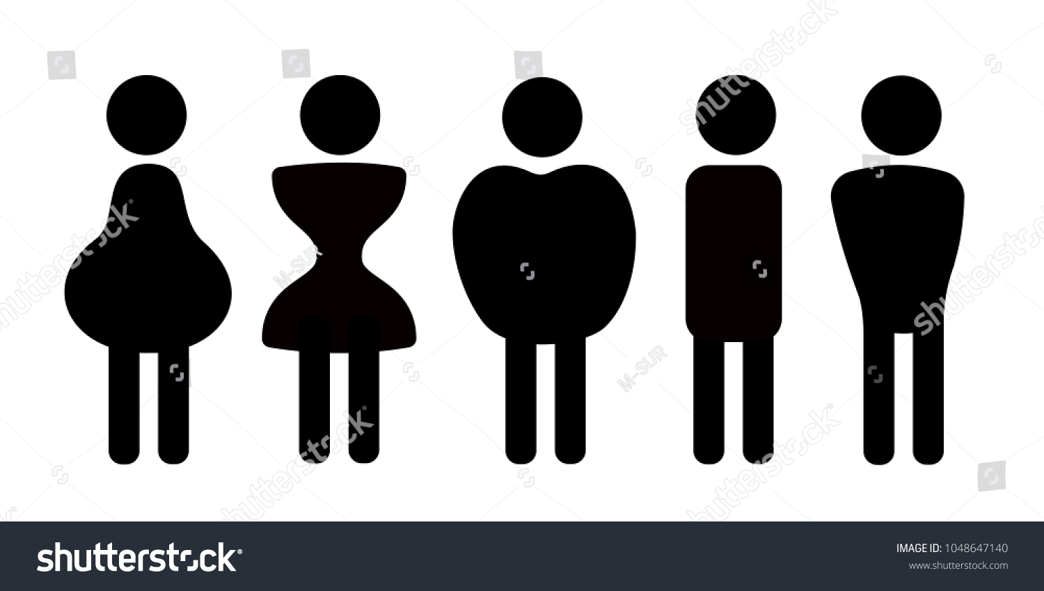2070862b0 Different Body Shapes Physique Frames Types Stock Vector (Royalty ...