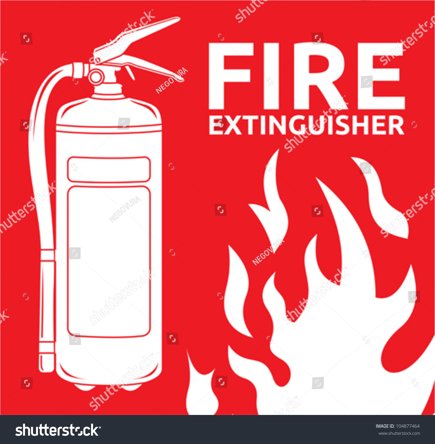 fire extinguisher sign stock vector illustration 104877464