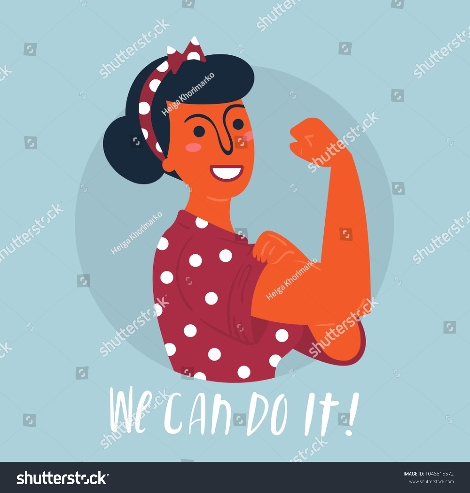 We Can Do Poster Strong Hindu Stock Vector Royalty Free 1048815572