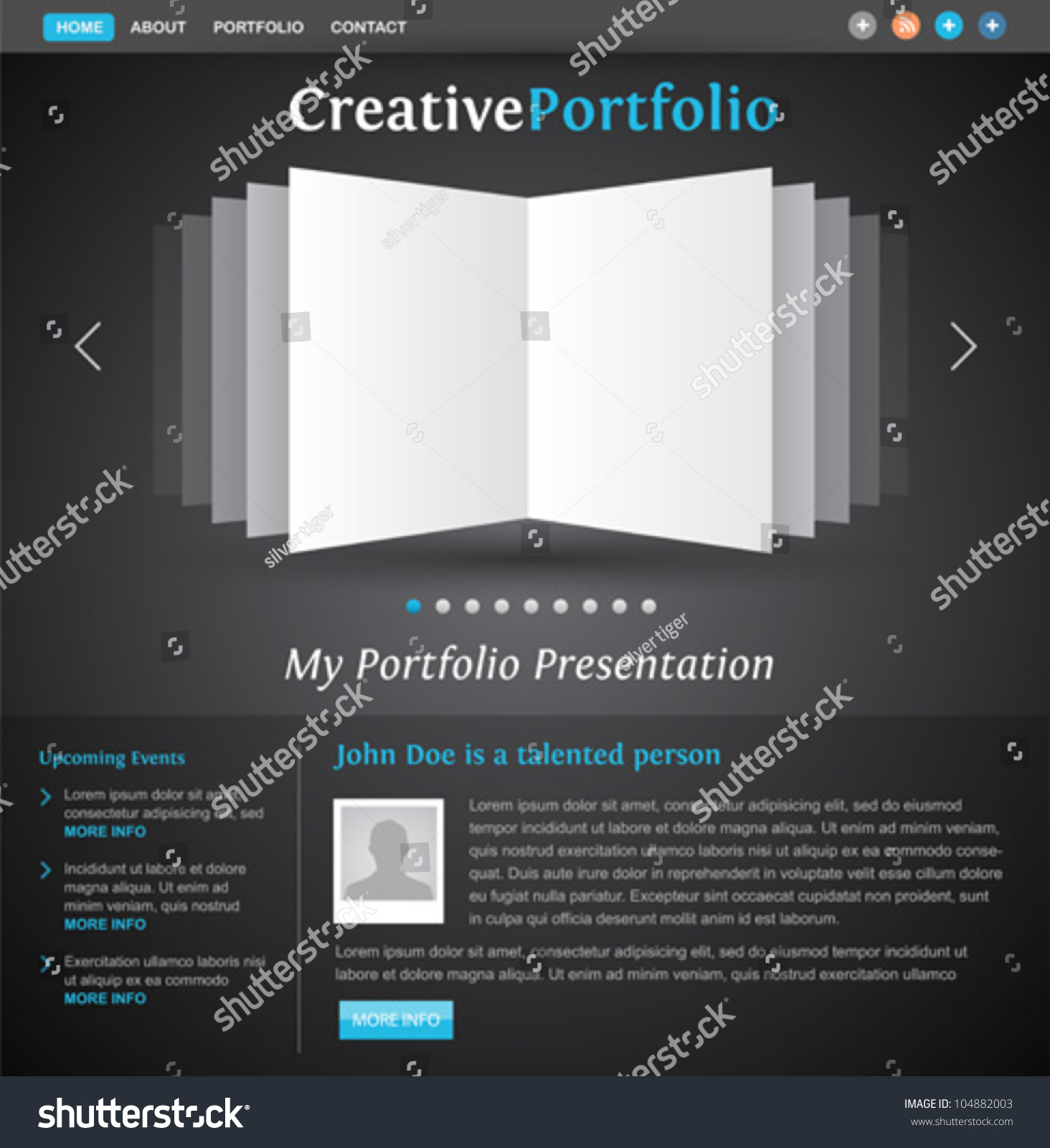 web design portfolio template book pages stock vector 104882003 web design portfolio template book pages view creative layout for designers and photographers