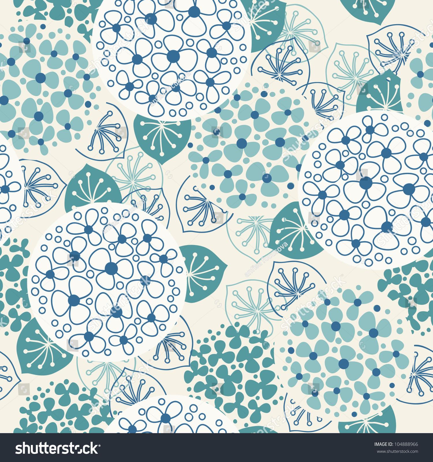 blue vintage floral pattern