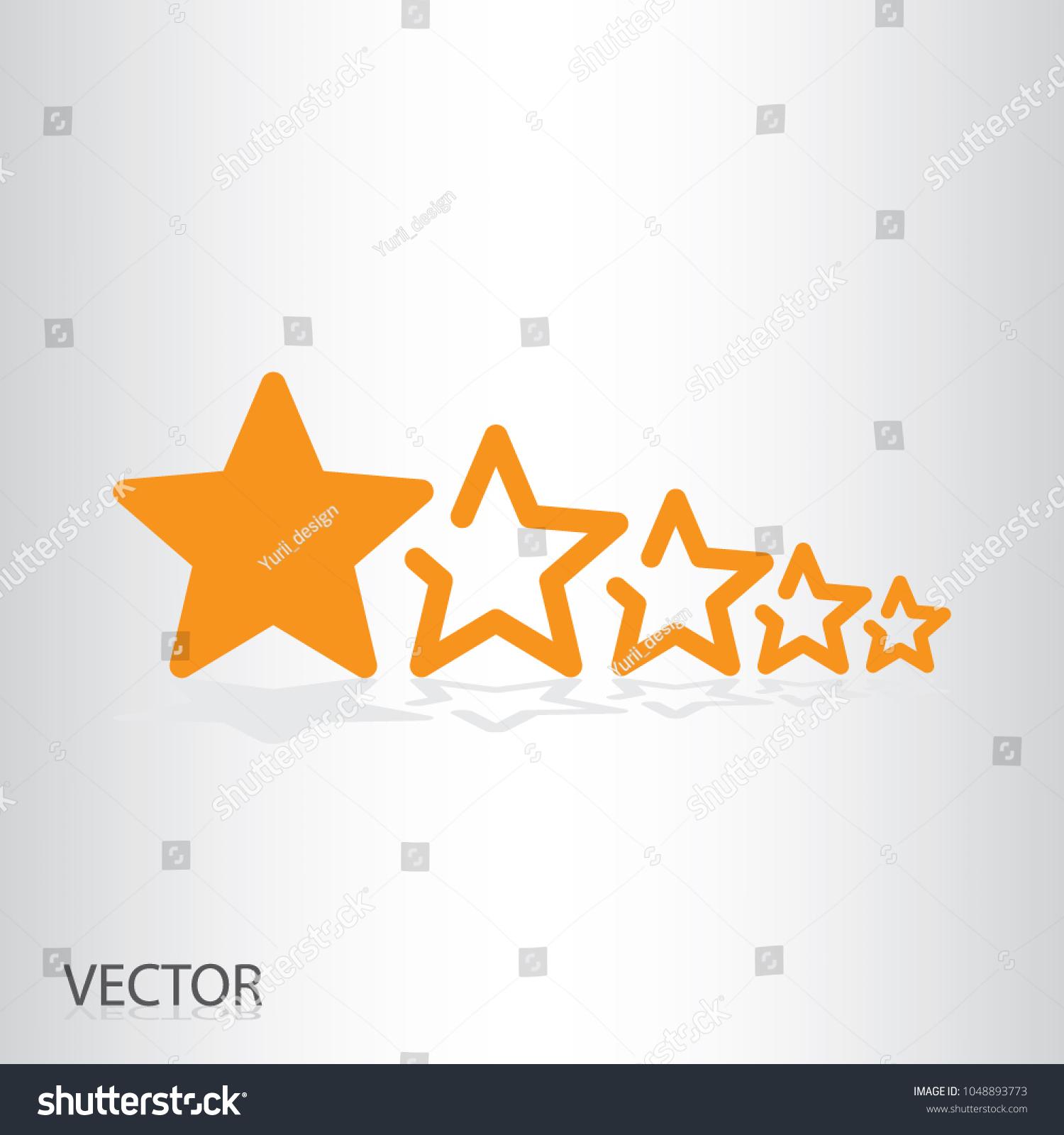 5 Stars Icon Raiting Stars Symbol Stock Vector 1048893773 Shutterstock