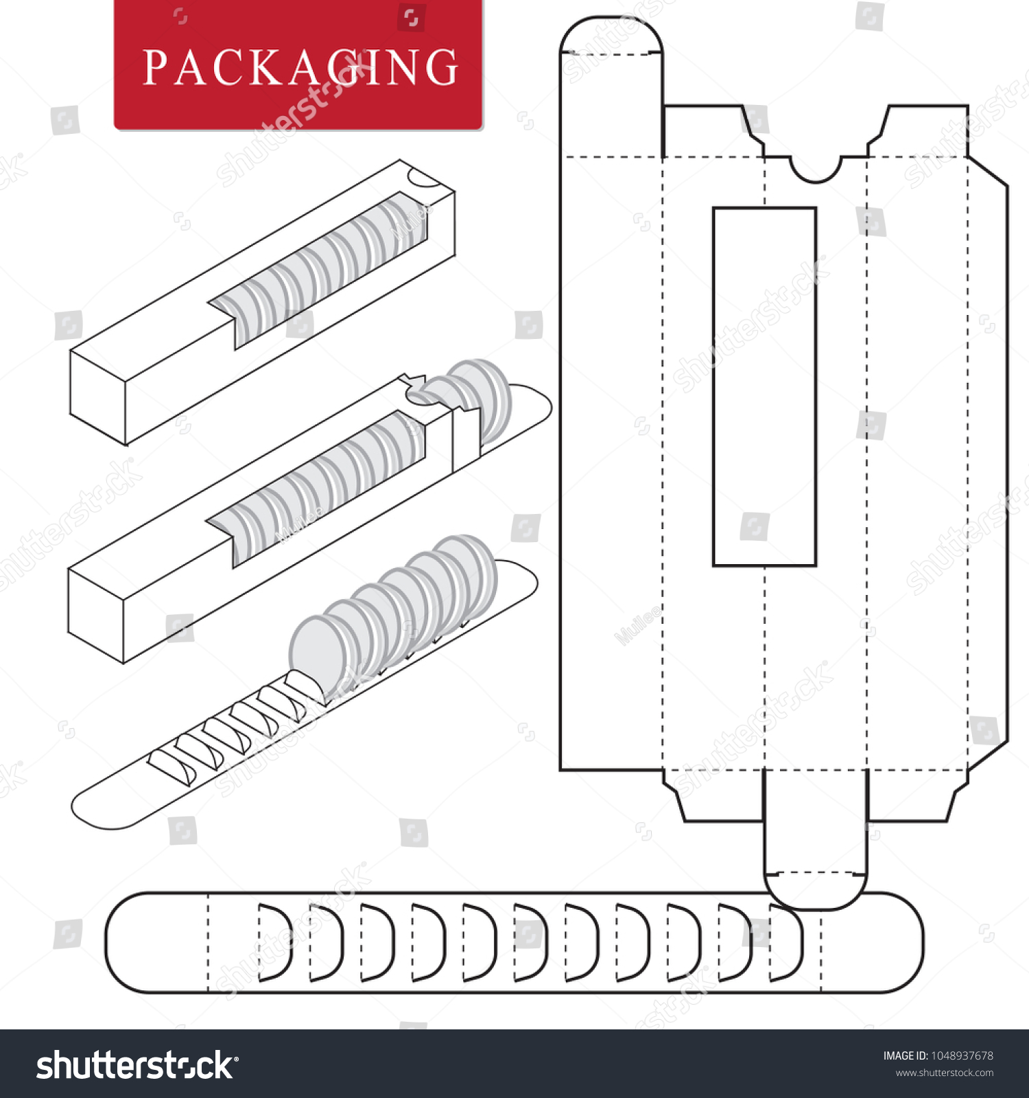 package bakery vector illustration box package template isolated の