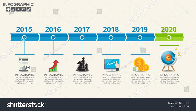 6 Step Timeline Infographics Design Template Stock Vector 1048944209 ...