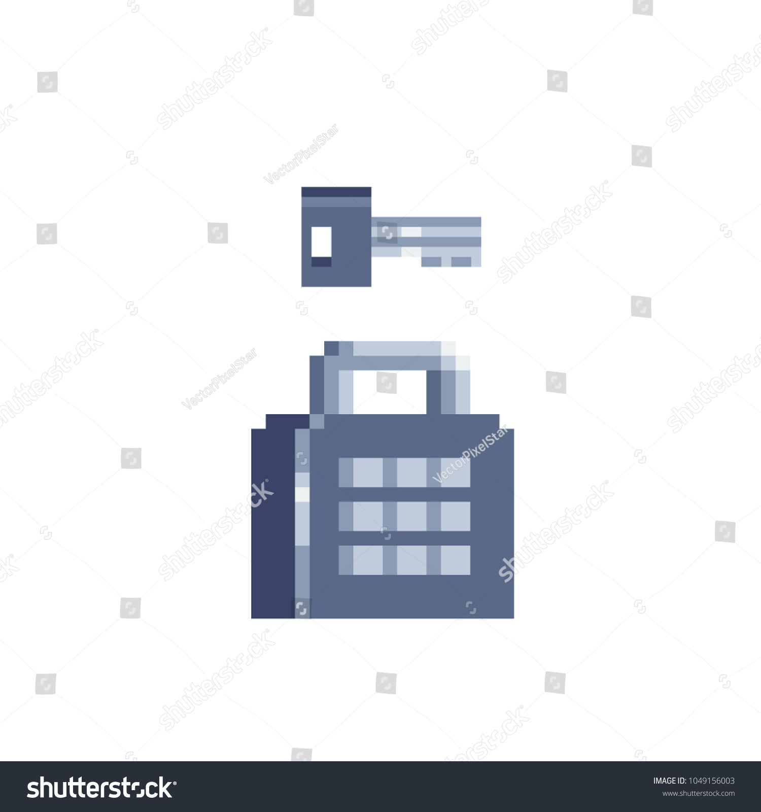 Key Combination Lock Pixel Art Flat Stock Vector Royalty Free Diagram And Style Icon Design Of Websites Logo