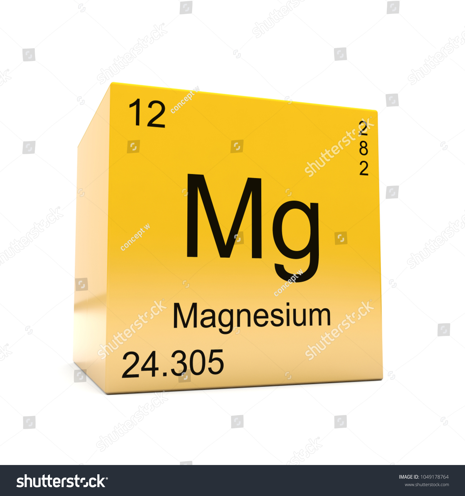 Magnesium chemical element symbol periodic table stock illustration magnesium chemical element symbol from the periodic table displayed on glossy yellow cube 3d render urtaz Gallery