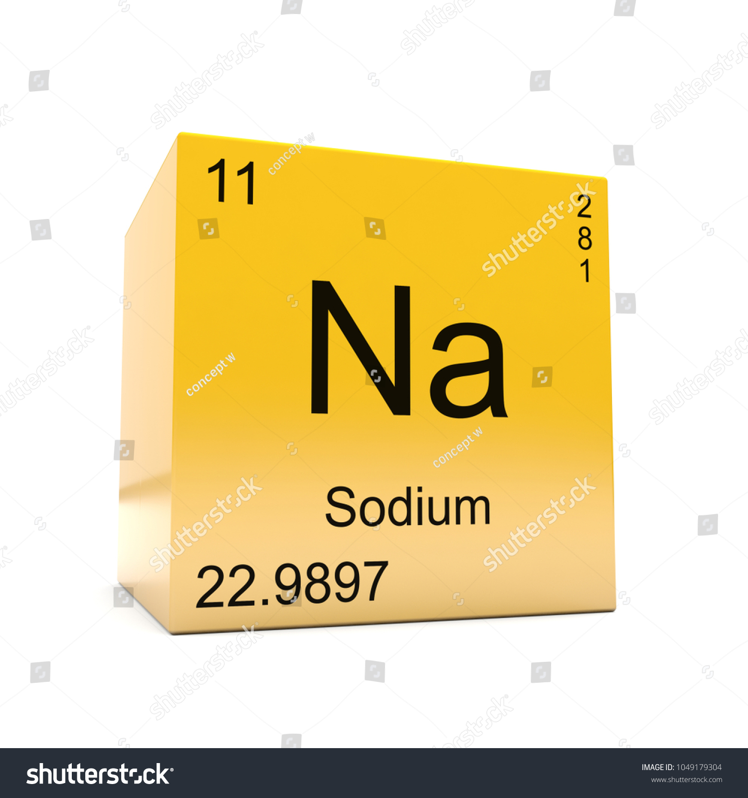 Sodium chemical element symbol periodic table stock illustration sodium chemical element symbol from the periodic table displayed on glossy yellow cube 3d render urtaz Choice Image