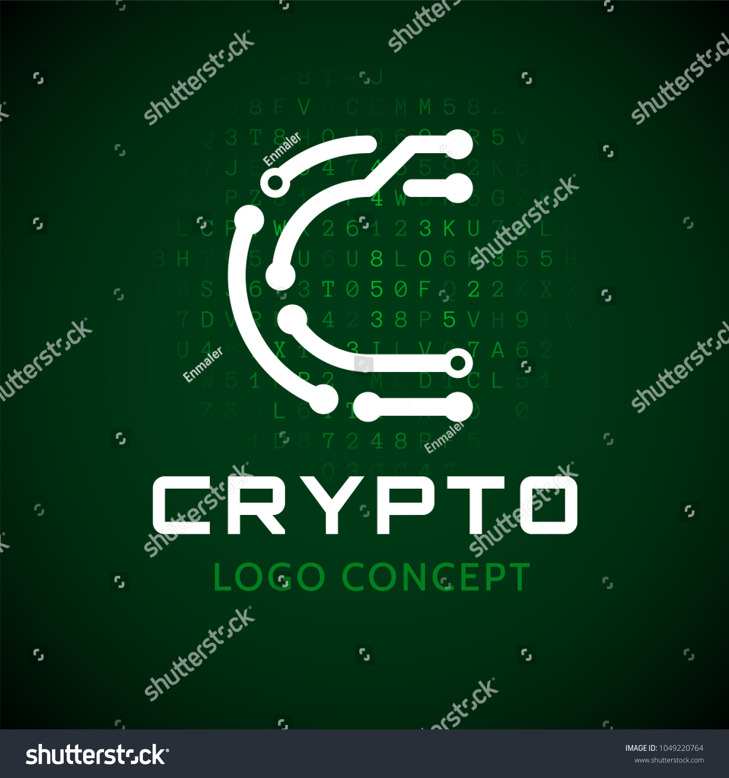 Symbol Cryptoy Letter C Form Chip Stock Vector Royalty Free