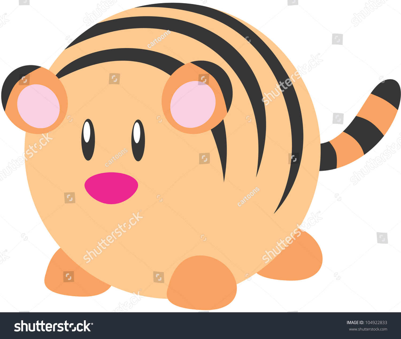Cute baby tiger drawing