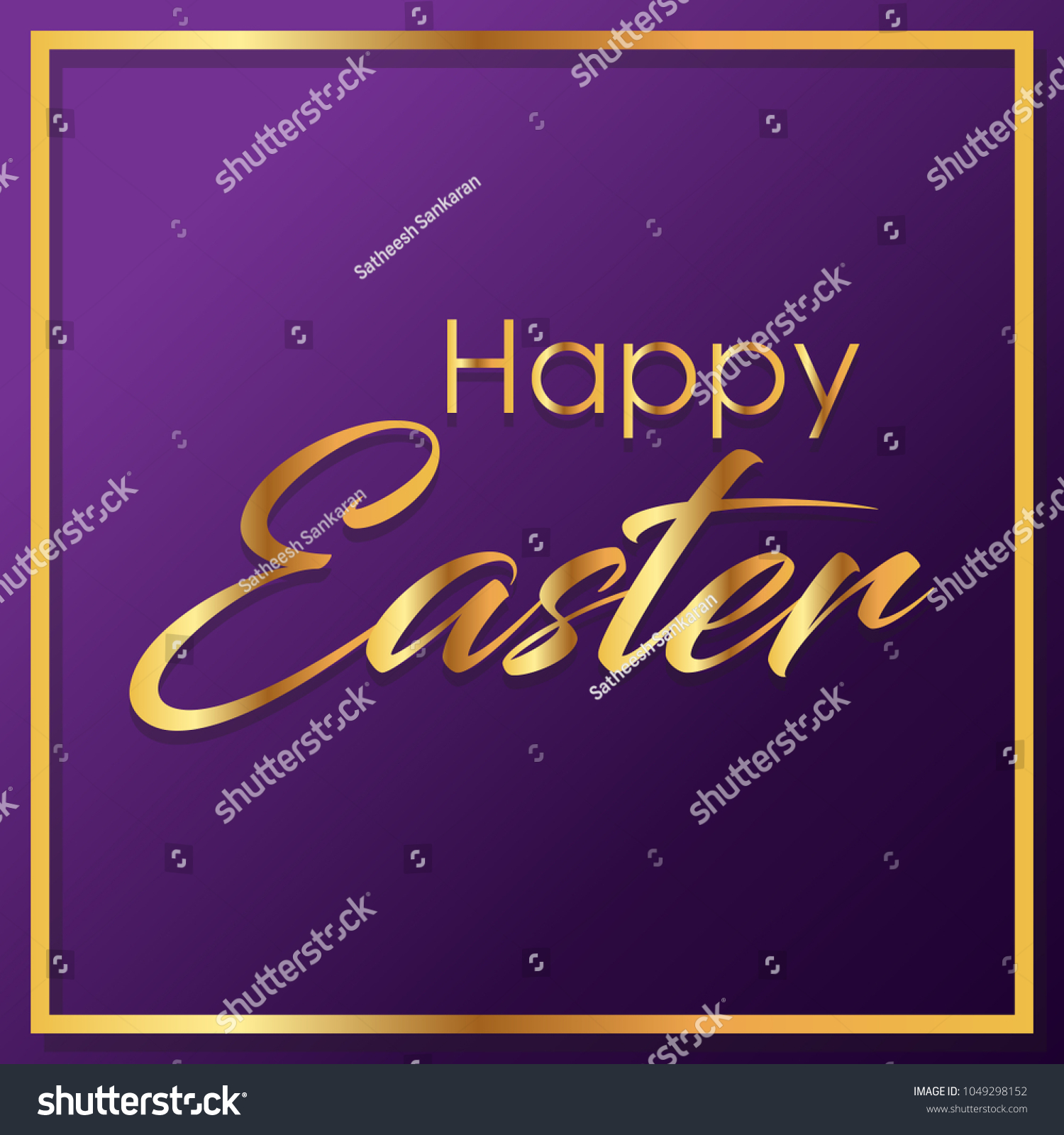 Creative vector illustration easter calligraphic text stock vector creative vector illustration for easter with calligraphic text happy easter can be used for kristyandbryce Choice Image