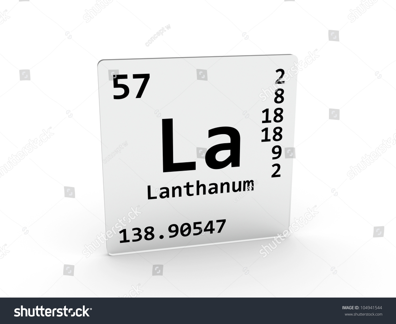 Lanthanum symbol la element periodic table stock illustration lanthanum symbol la element of the periodic table gamestrikefo Image collections