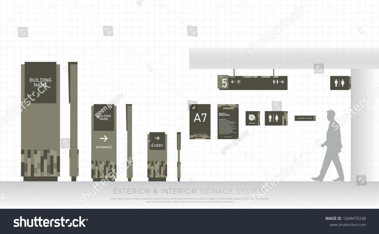 in custom signage building interior asi