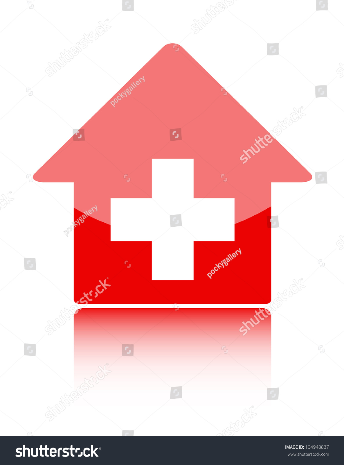 Medical Icon Red Hospital Symbol Stock Vector Royalty Free