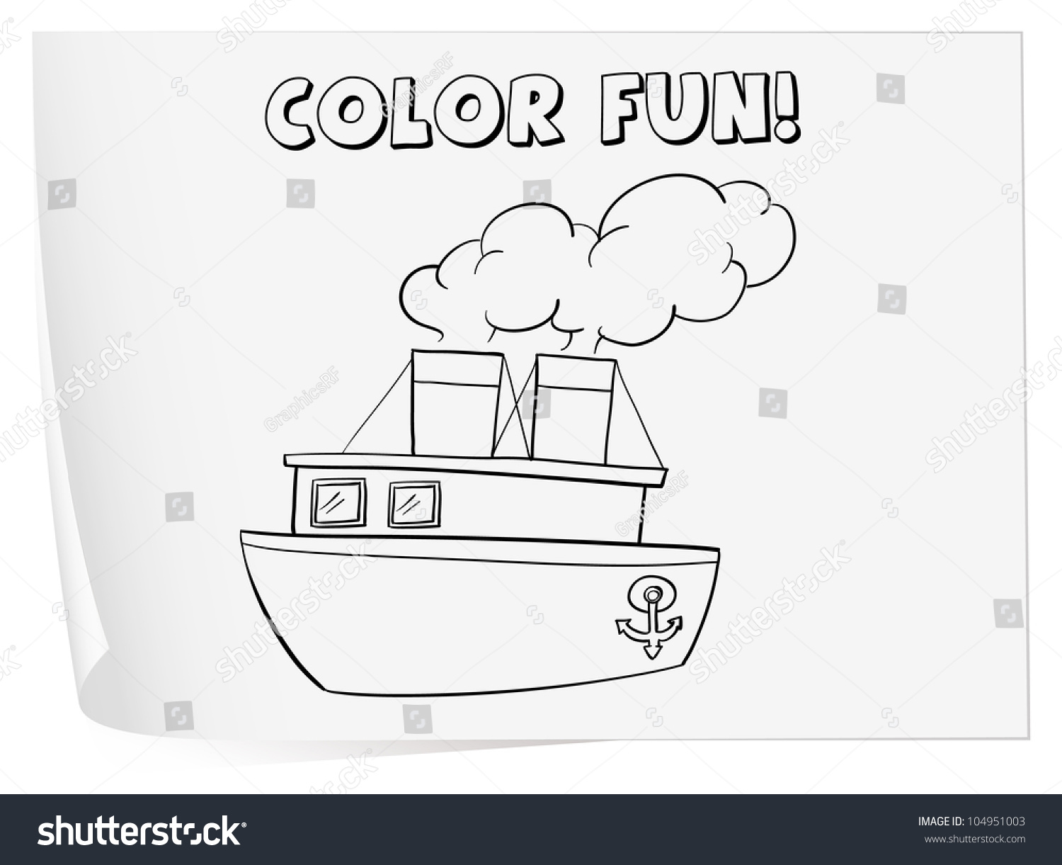 illustration of a colouring worksheet boat eps vector format also available in my portfolio. Black Bedroom Furniture Sets. Home Design Ideas