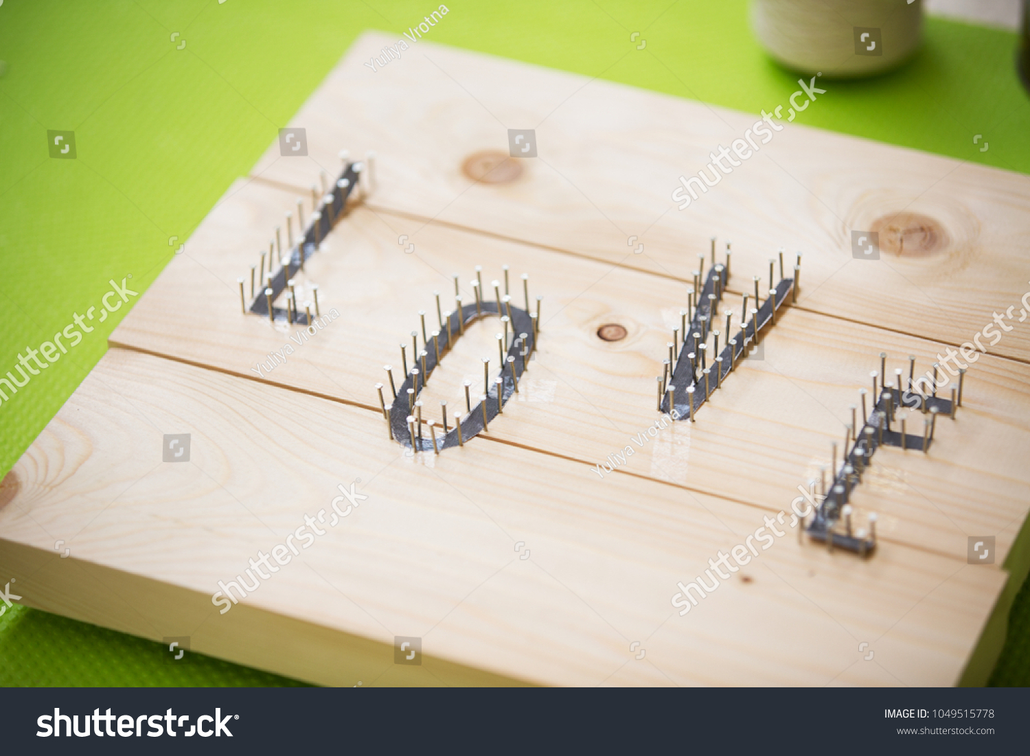 Step by step string art decoration guide