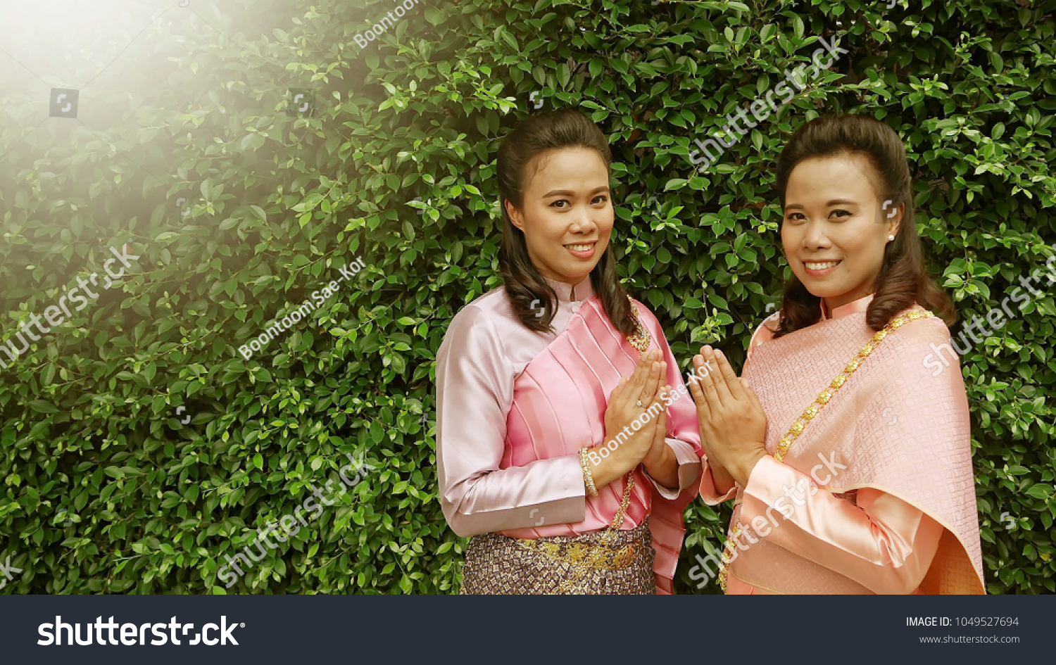 Songkran Welcome Thailand Concept Twin Sisters Stock Photo Edit Now