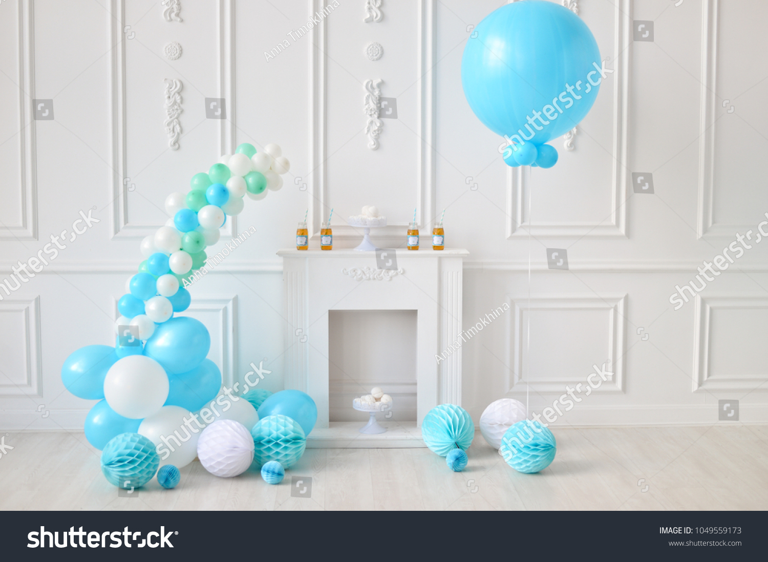 Decorations For Holiday Party Birthday Ideas A Lot Of Balloons Blue And White