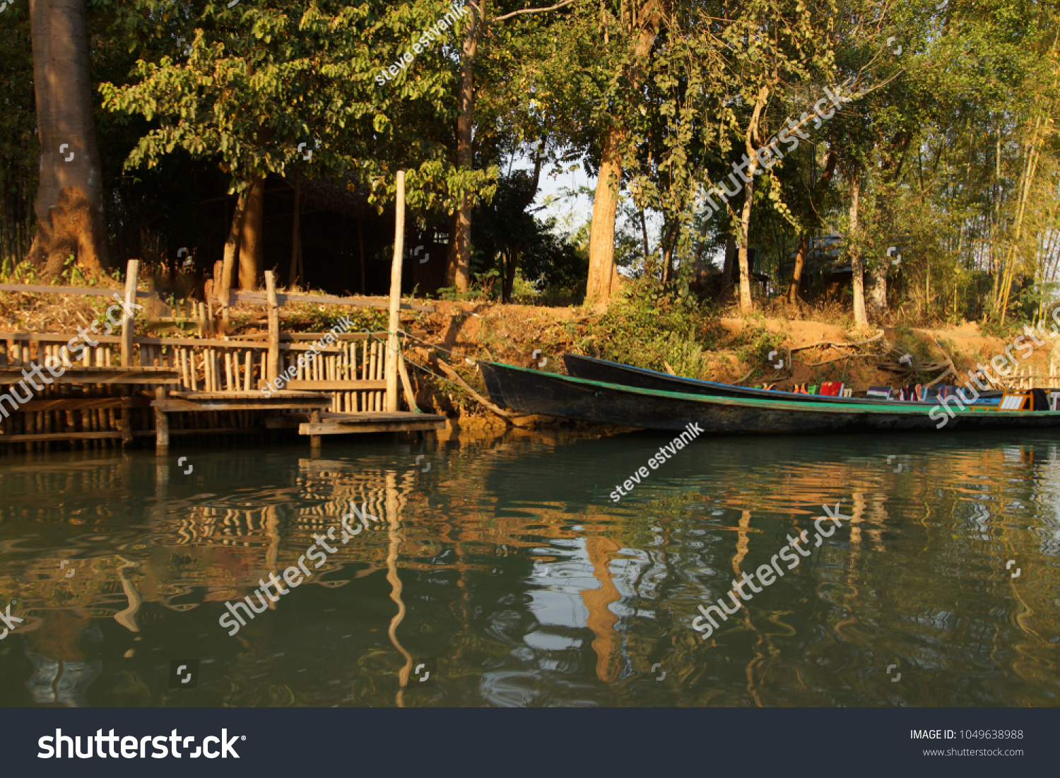 Small Boat Among Floating Gardens Canals Stock Photo (Edit Now ...
