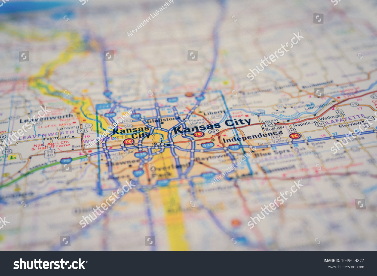 Kansas City On USA Map Stock Photo (Edit Now) 1049644877 - Shutterstock
