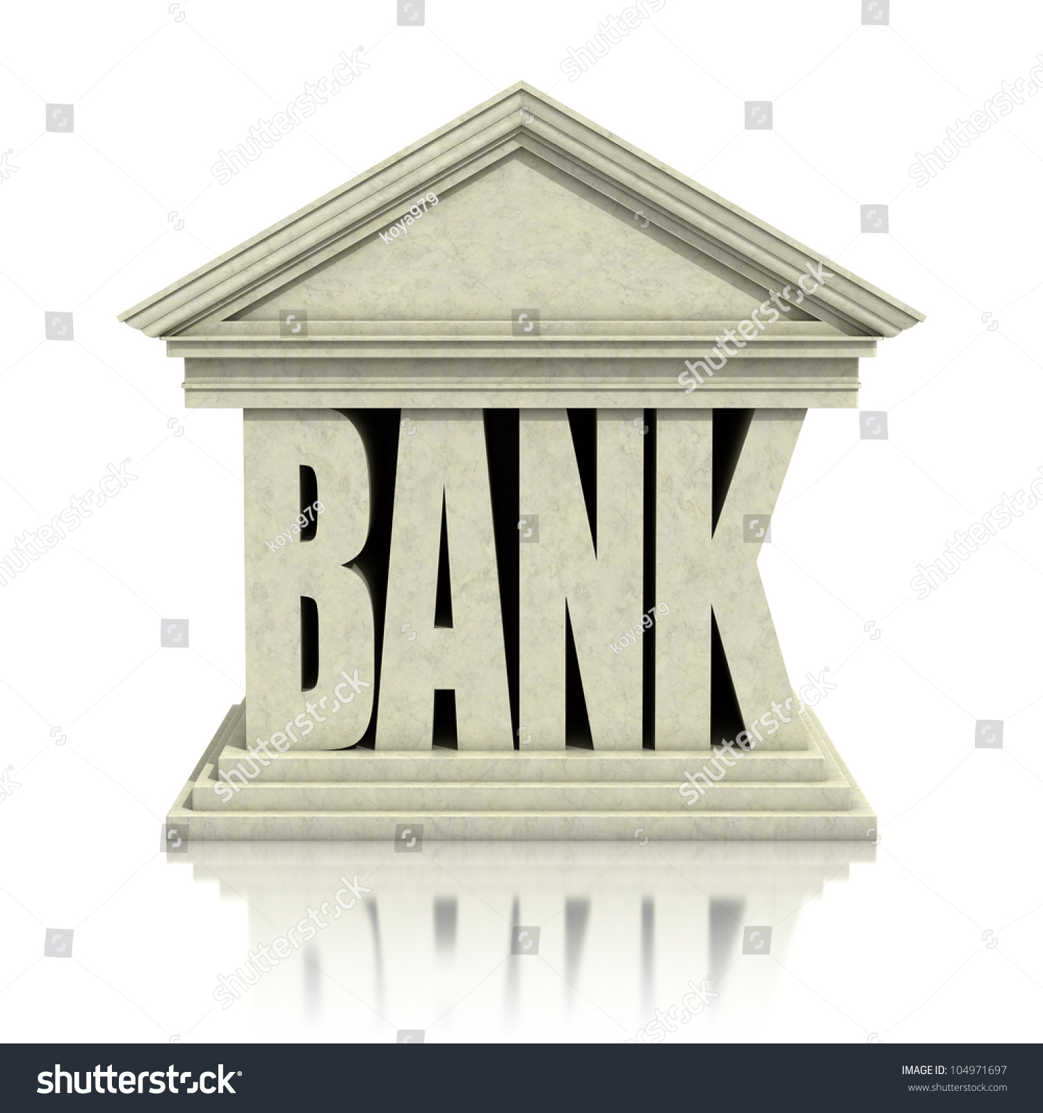 bank 3d icon stock illustration 104971697 shutterstock