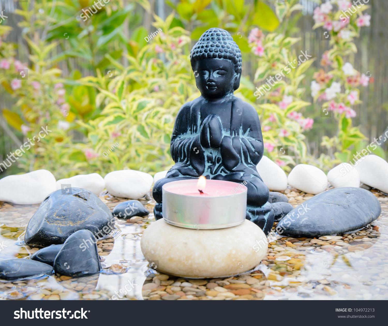 Zen Buddha Garden Spiritual Concept Stock Photo 104972213