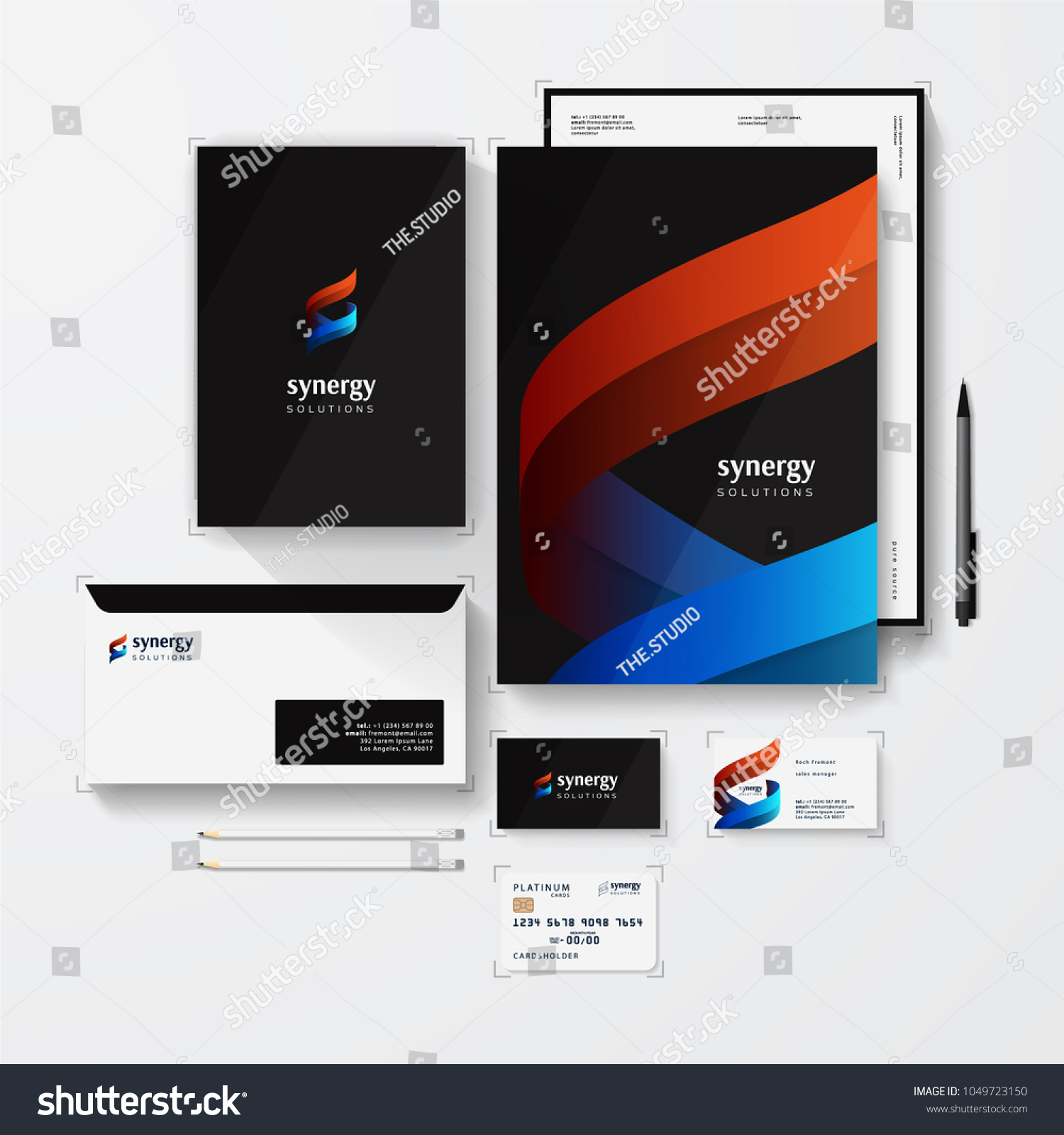 Isometric Stationery Mockup Logo Template Your Stock Vector Royalty
